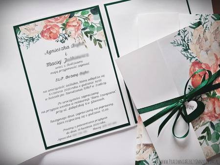 Kwiatowe zaproszenia w formie folderu (4)