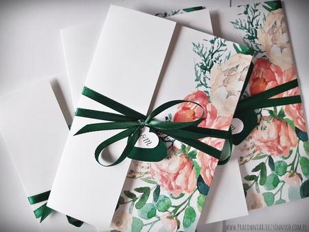 Kwiatowe zaproszenia w formie folderu (21)