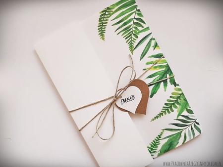 Kwiatowe zaproszenia w formie folderu (10)