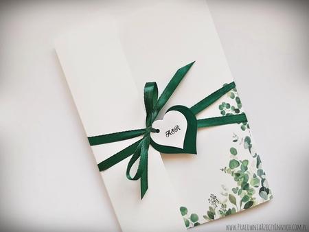 Kwiatowe zaproszenia w formie folderu (15)