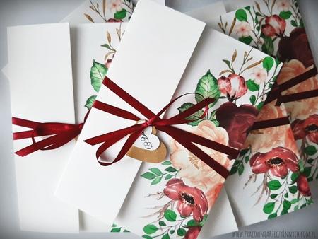 Kwiatowe zaproszenia w formie folderu (39)