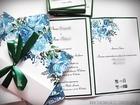 Kwiatowe zaproszenia w formie folderu (8)