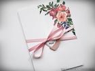 Kwiatowe zaproszenia w formie folderu (17)