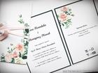 Kwiatowe zaproszenia w formie folderu (3)