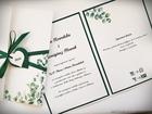 Kwiatowe zaproszenia w formie folderu (2)