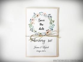 Save the date  z kwiatami