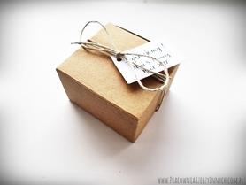 Rustykalne pudełeczko podziękowania z eko papieru