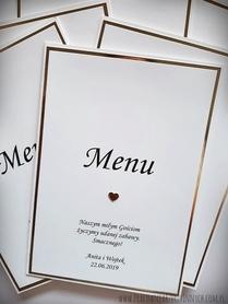 Karta menu na lustrzanym papierze
