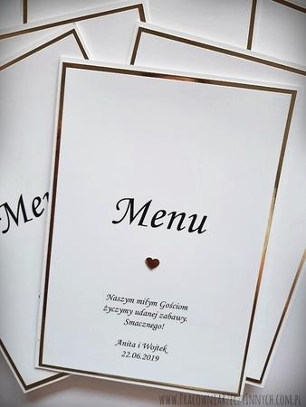 Karta menu na lustrzanym papierze (1)
