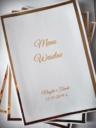 Karta menu na lustrzanym papierze (3)