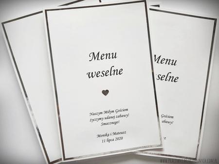 Karta menu na lustrzanym papierze (4)