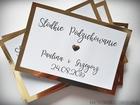 Złote/srebrne podziękowania na pudełko z ciastem (1)