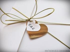 Kopertowe zaproszenia z lustrzanym papierem