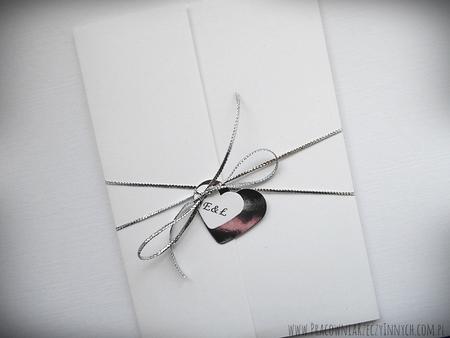 Kopertowe zaproszenia z lustrzanym papierem (4)
