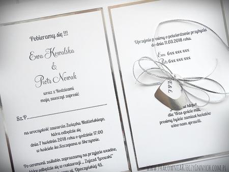 Kopertowe zaproszenia z lustrzanym papierem (7)