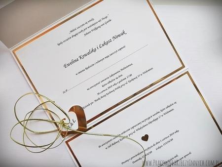 Kopertowe zaproszenia z lustrzanym papierem (5)