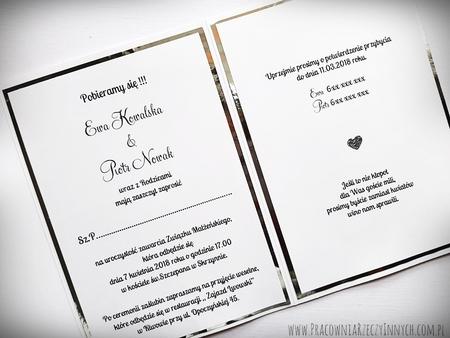 Kopertowe zaproszenia z lustrzanym papierem (15)