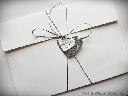 Kopertowe zaproszenia z lustrzanym papierem (2)