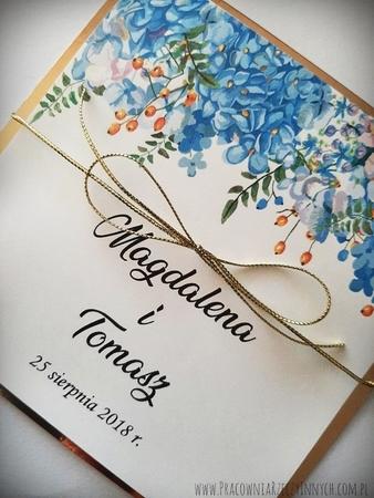 Złote lub srebrne zaproszenie z kwiatami (9)
