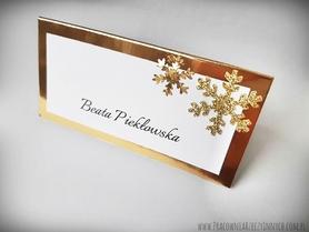 Zimowe winietki złote/srebrne w stylu glamour