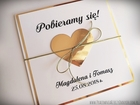 Złote lub srebrne zaproszenie z sercem (6)