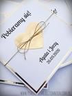 Złote lub srebrne zaproszenie z sercem (19)