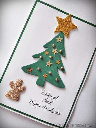 Kartka świąteczna z choinką (1)