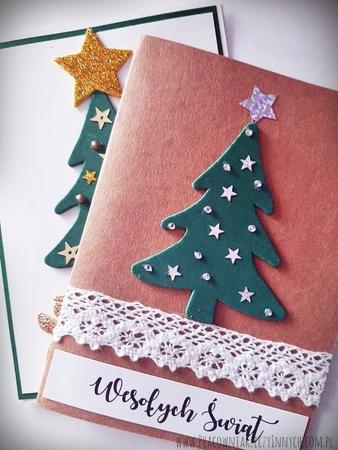 Kartka świąteczna z choinką (2)