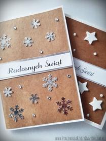 Kartki z gwiazdkami i śnieżynkami