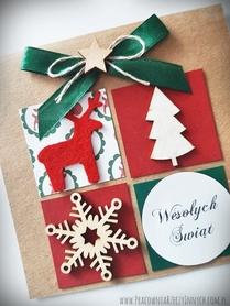 Kartka świąteczna z prezentem