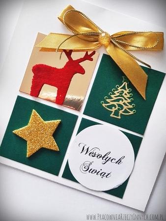 Kartka świąteczna z prezentem (2)