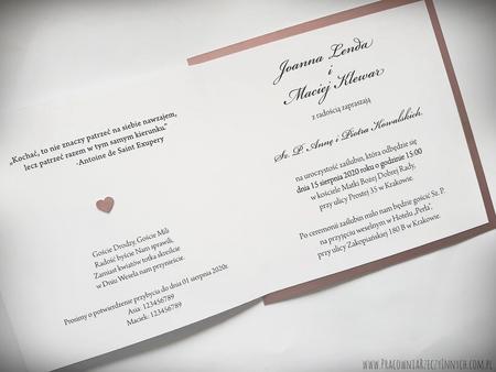 Klasyczne zaproszenia w kolorze złotym lub srebrnym (28)