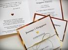 Klasyczne zaproszenia w kolorze złotym lub srebrnym (20)