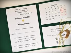 Kopertowe zaproszenia z kalendarzem