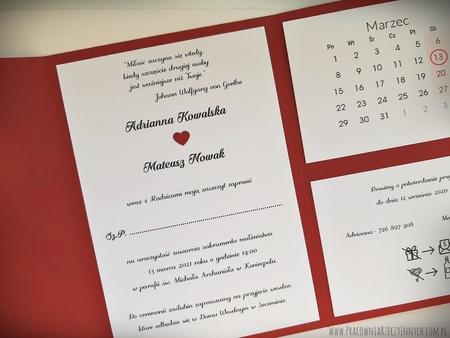 Kopertowe zaproszenia z kalendarzem (4)