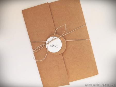 Rustykalne zaproszenia folderowe z kalendarzem (5)