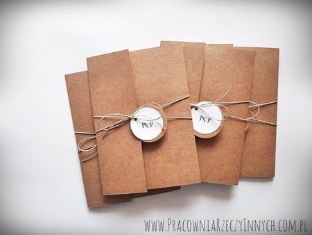 Rustykalne zaproszenia folderowe z kalendarzem (7)
