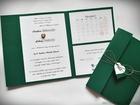 Rustykalne zaproszenia folderowe z kalendarzem (3)