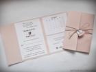 Rustykalne zaproszenia folderowe z kalendarzem (1)