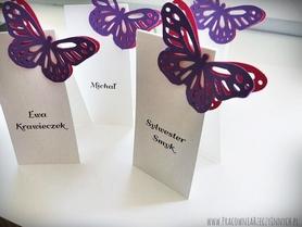 Pionowe winietki z motylkami /BUTTERFLY/