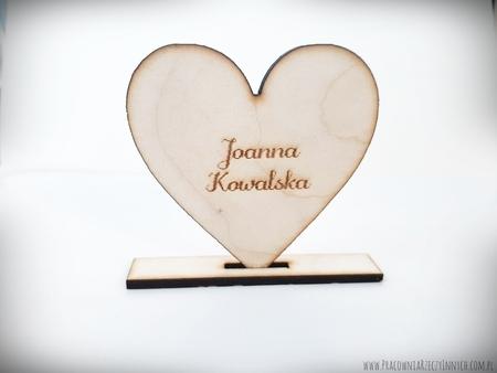 Winietka drewniana serce na podkładce (1)