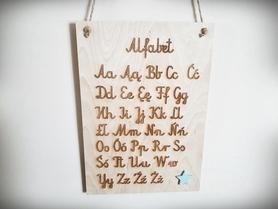 Tablica z alfabetem