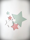 Komplet gwiazdek drewnianych na ścianę (4)