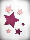 Komplet gwiazdek drewnianych na ścianę (3)