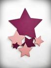 Komplet gwiazdek drewnianych na ścianę (2)