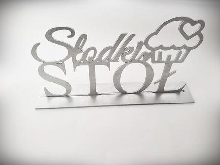 Dowolny napis drewniany w stylu glamour. (1)