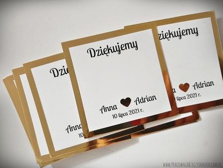 Karteczki do przyklejania czekoladek podziękowań /Merci, Ferrero/ (3)