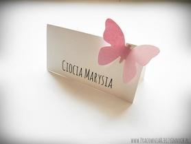 Winietki z motylkami /MOTYL I/