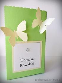 Torebeczka z motylkami - podziękowania dla gości